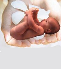 Ребенок в руках