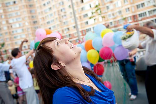 Женщина и шарики
