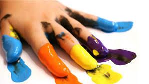 Ладонь и краски