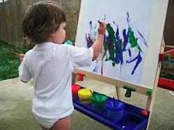 Ребенок и краски