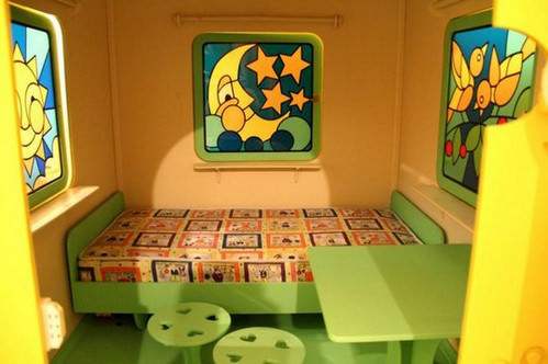 детский домик изнутри