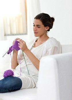 Женщина и вязание