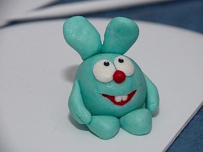 Заяц Кроша из пластилина