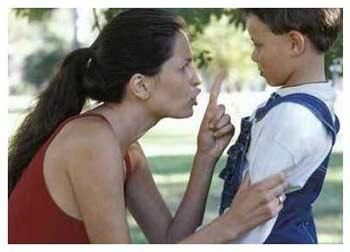 Мама наказывает сына