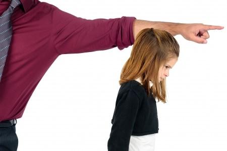 Отец наказывает дочь