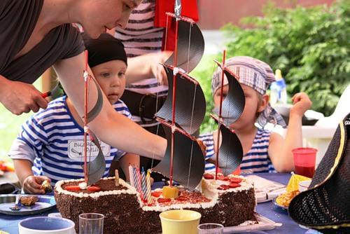 Торт на пиратский день рожденья