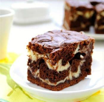Рецепт шоколадно-творожного пирога