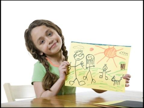 Девочка и рисунок