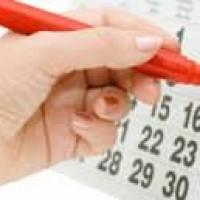 Фломастер и календарь