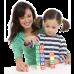 Девочка и кубики с буквами
